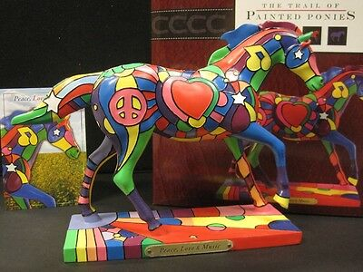 Trail of Painted Ponies PEACE, LOVE, AND MUSIC, 1E/638, NIB, RARE free shipping