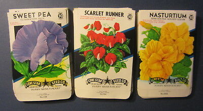 Wholesale Lot of 75 Old 1950's Vintage - FLOWER - SEED PACKETS - 325C - EMPTY