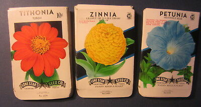 Wholesale Lot of 75 Old 1950's Vintage - FLOWER - SEED PACKETS - 325D - EMPTY