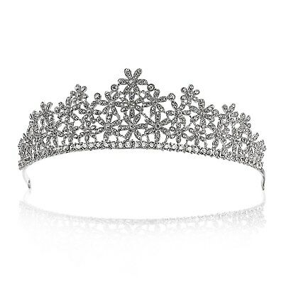 Bridal Floral Rhinestone Crystal Wedding Prom Crown Tiara 71025