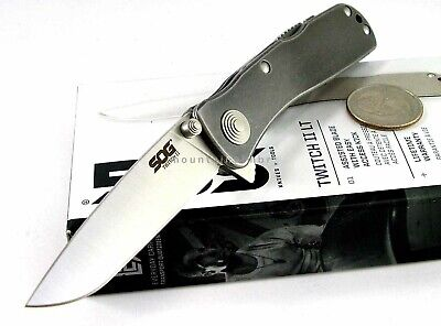SOG Twitch II LT Flipper Assisted Opening Stonewashed Hdl Knife TWI18 BOX