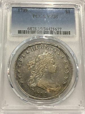1799 $1 Draped Bust Silver Dollar PCGS Certified VF 35