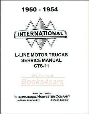 International Shop Manual Service Repair Book Truck Harvester Cts11 50-54