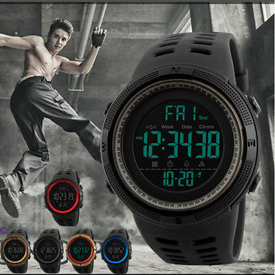 SKMEI Fashion Men's Smart Watch Alarm Digital Sports Wrist Watch Waterproof