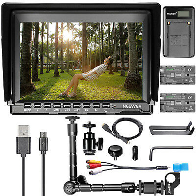 """Neewer NW759 7"""" HD Camera Field Monitor with Battery and Charger and Magic Arm"""