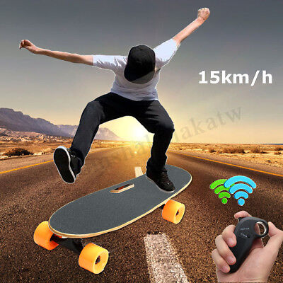 500W Electric Skateboard Long Board 25km/h 70mm Wireless Skate Remote Control AU