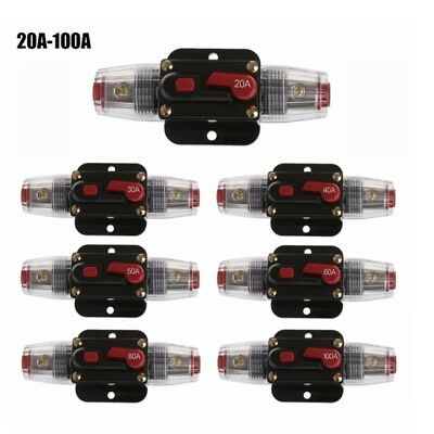 1Pc 12V Car Automatic Circuit Breaker 20-100A Switch Safety Fuse Seat Holder