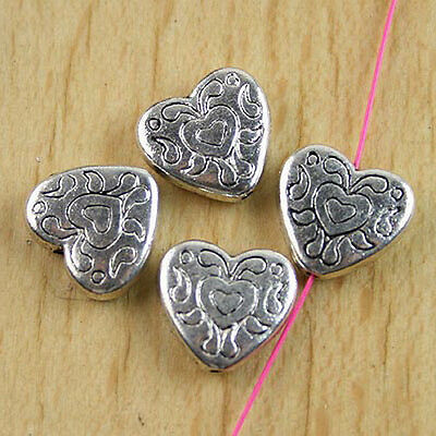 15pcs Tibetan silver crafted Heart-shaped beads H0135