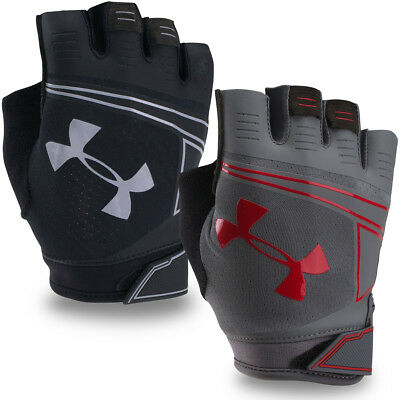 Under Armour Mens 2018 CoolSwitch Flux Training Gym Training Fingerless Gloves