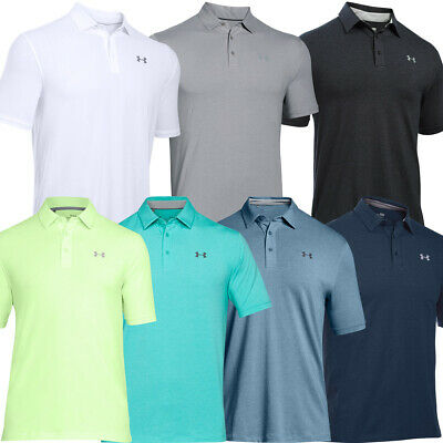 Under Armour Mens 2018 Charged Cotton Scramble SS Golf Polo Shirt 31% OFF RRP