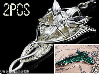 2xset lotr lord of the rings elven leaf brooch arwen evenstar 2xset lotr lord of the rings elven leaf brooch arwen evenstar pendant necklace aloadofball Choice Image