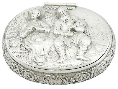 Antique Dutch Silver Tobacco Box 1690s