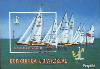 Equatorial-Guinea block288 (complete issue) used 1978 olympic.