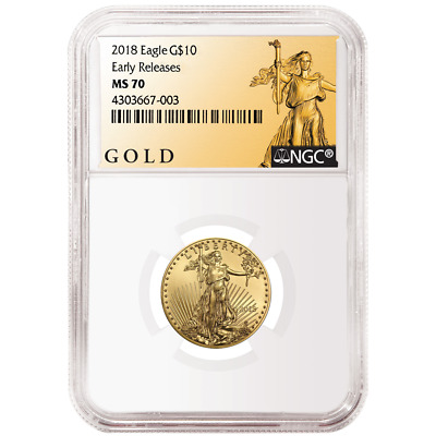 2018 $10 American Gold Eagle 1/4 oz. NGC MS70 ALS ER Label