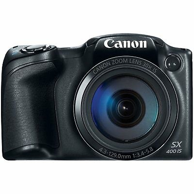 Canon PowerShot SX400 Digital Camera with 30x Optical Zoom (Black) (Discontinued