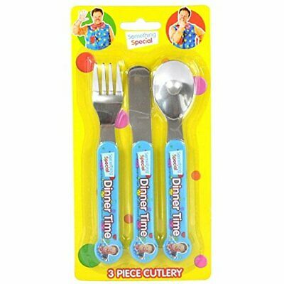 Mr. Tumble Something Special 3 Piece Cutlery Set - Fork Knife & Spoon