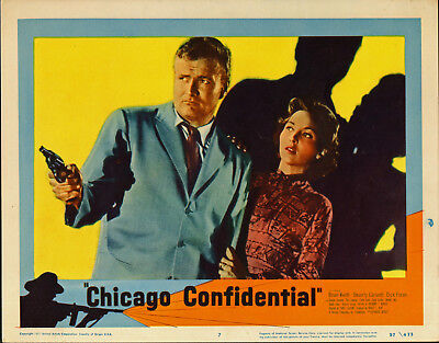 CHICAGO CONFIDENTIAL 1957 lobby card BRIAN KEITH/BEVERLY GARLAND 11x14 poster