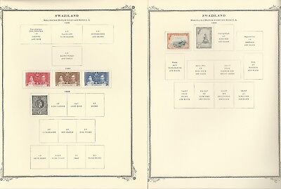 Swaziland Collection 1889-1971 on 10 Scott Specialty Pages