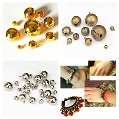 Gold/Silver Plated Tibetan Brass Bell Bead Metal Bell Jewelry Making 6-25mm