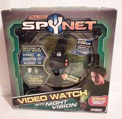 Real Tech Spynet Video Watch with Night Vision Jakks Pacific New, Open Box 35640