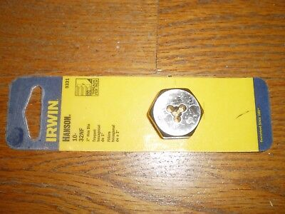 New Irwin 9331 Carbon Steel Quality 10/32-Nf Thread Cutting Die  Usa