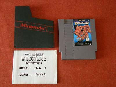 Tecmo World Wrestling / Pal - Spain / Cart & Manual / Nintendo Nes 418