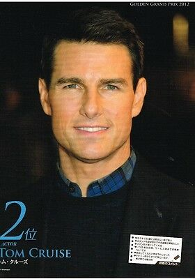 "TOM CRUISE - 11"" x 8"" TEEN MAGAZINE POSTER PINUP CLIPPING - year 2012"