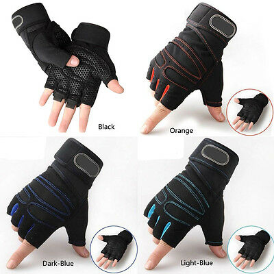 Men Women Weight lifting Gym Gloves Training Fitness Wrist Wrap Exercise Sport M