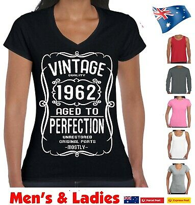 97689387 Funny T-Shirts 60th Birthday 1959 60 Years Old Vintage Aged To Perfection  size