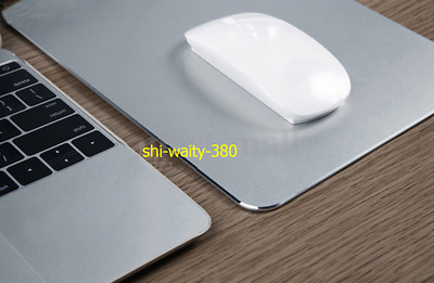 General Waterproof Aluminum Alloy Mouse Pad Mat Gaming Mousepad For Apple Sliver
