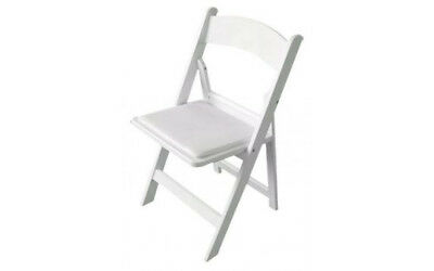 White Wooden Folding Chairs, Garden Chairs, Party Chairs, Wedding Chairs