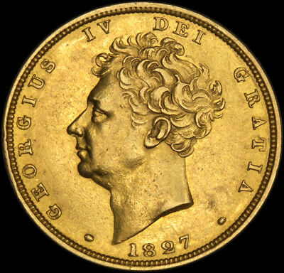 KING GEORGE THE IV 1827 GOLD SOVEREIGN about Uncirculated....