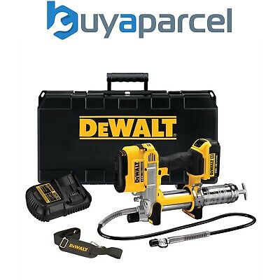 Dewalt DCGG571M1 18v XR Cordless Li-Ion Grease Gun + 1 x 4Ah Battery, Case