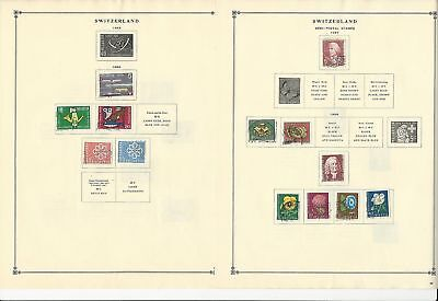 Switzerland Collection 1941 to 1962 on 27 Scott International Pages