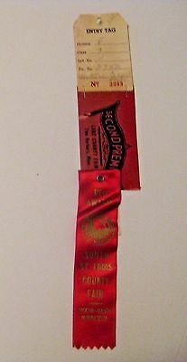 Vintage 1972 St. Louis County Fair Duluth Proctor Minnesota Advertising Ribbon