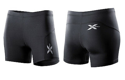 New 2XU Women Compression 1/2 Short X-Small XS Wear Alone or Sports Base Layer