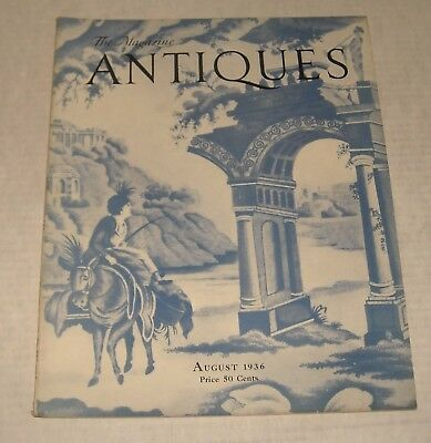 August 1936 ANTIQUES MAGAZINE AMERICAN TIN CANDLE SCONCES NORSEMAN LAND KINGS