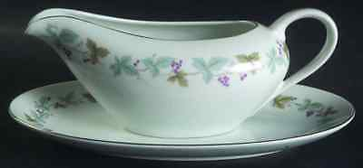 Fine China Of Japan VINTAGE Gravy Boat & Underplate 3721699