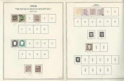 Timor Collection on 1885 to 1972 on 21 One-Sided Minkus Specialty Pages
