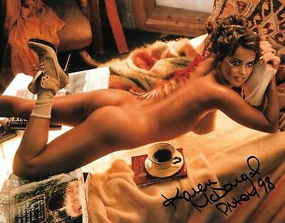 KAREN McDOUGAL 1998 PLAYBOY PLAYMATE OF THE YEAR SEXY SIGNED PHOTO  (C)