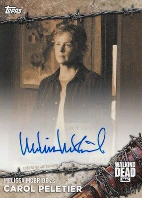 The Walking Dead On Demand 2017 - Melissa Mcbride Sepia Parallel Autograph 01/10
