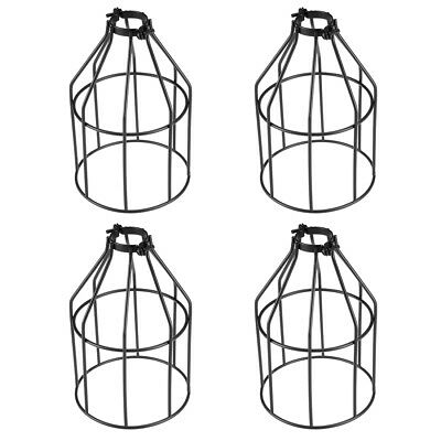 4Pcs 20cm Height Clamp On Industrial Vintage Style Light Cage Wire Lamp Shade