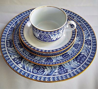 Block Spal Portugal Olbidos 60 PC Dinnerware Set Serving For 12 RARE