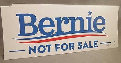 Wholesale Lot Of 10 Bernie Sanders Not For Sale Bumper Stickers President 2016