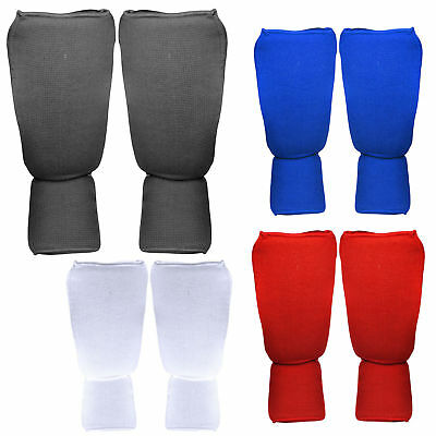Shin Instep Pads MMA Leg Foot Guards Muay Thai Kick Boxing Training Protector