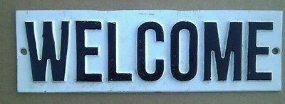 WELCOME Cast Iron Vintage Style Cast Iron Door Sign FREE SHIPPING