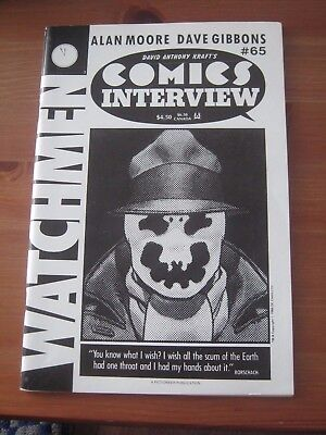 Comics Interview # 65 Watchmen Alan Moore Dave Gibbons - Rorschach cover