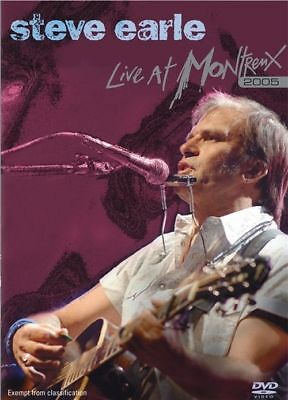 STEVE EARLE Live At Montreux 2005 DVD BRAND NEW PAL Region ALL