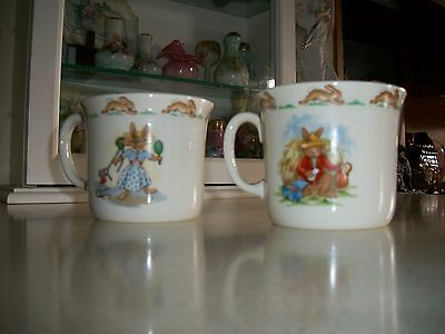Royal Doulton Fine Bone China Bunnykin Mugs [2] - Hat Shop and other Scenes