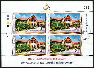 Thailand 2017 Suan Sunandha Rajabhat University Sheetlet of 4 Fine Used